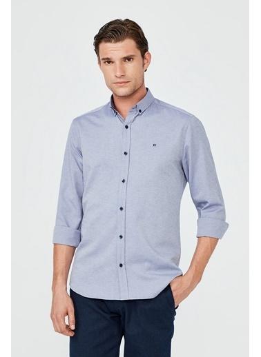 Avva Erkek  Oxford Gömlek A02B2287 Mavi